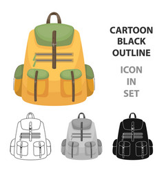 a backpack for thingstent single icon in cartoon vector image vector image