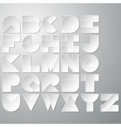 a paper font vector image