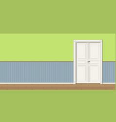 A room with door seamless vector