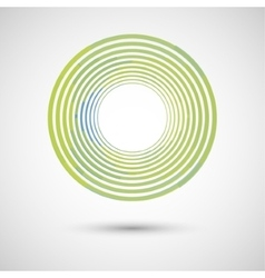 abstract green circle on a white background vector image vector image