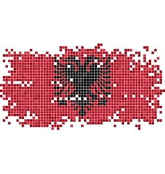 Albanian grunge tile flag vector