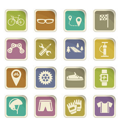 Bicycle icon set vector