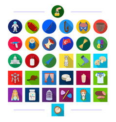 Decorations business animals and other web icon vector