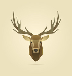 Deer portrait realistic vector
