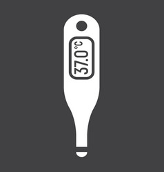 digital medical thermometer glyph icon medicine vector image
