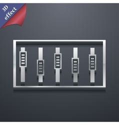 Dj console mix handles and buttons icon symbol 3d vector