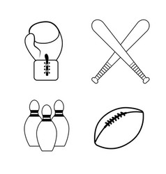 figure sport game background icon vector image vector image