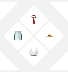 Flat clothes set of brasserie trunks cloth vector