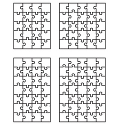 Four white puzzles 2 vector