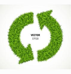 green grass arrow vector image vector image