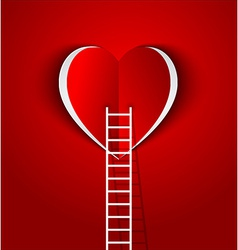 ladder to your heart greeting card vector image vector image