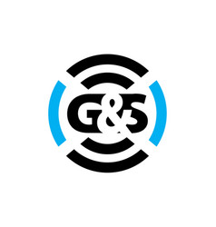 Letter g s sound service production vector