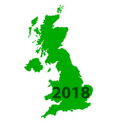 map of united kingdom 2018 vector image vector image