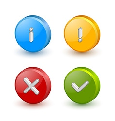 Notification icons vector image vector image