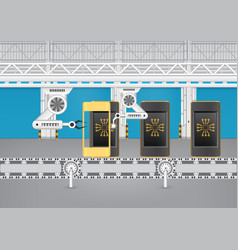 Phone assembly line vector