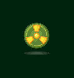 Radiation symbol radiation vector