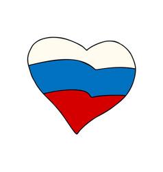 russia heart patriotic symbol vector image vector image