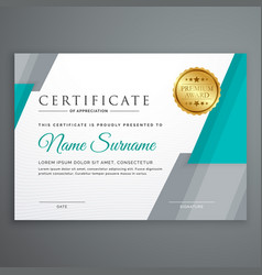 Stylish certificate template design with vector