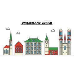 switzerland zurich city skyline architecture vector image