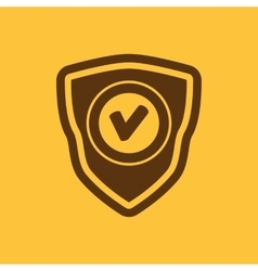 The shield icon Security symbol Flat vector image vector image