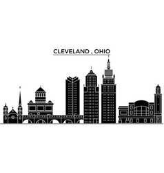 usa ohio cleveland architecture city vector image