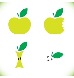 Very tasty green apple vector