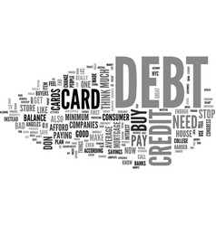 What you need to know about debt and credit cards vector