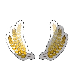 wheat branches icon image design vector image