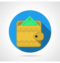 Yellow wallet flat icon vector image vector image