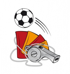 Football and whistle vector