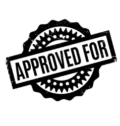 Approved for rubber stamp vector