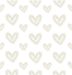 Seamless pattern hand-stitched hearts vector