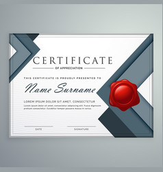 Amazing modern certificate template design with vector