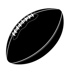 sport equipment rugby ball american football vector image