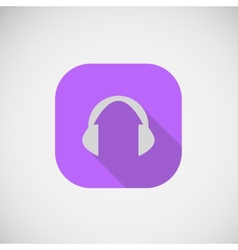Flat icon cordless headphone vector