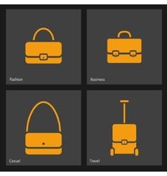 Bag icons set vector image