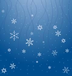 snowflake scene vector image