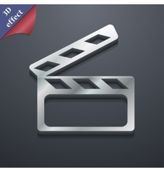 Cinema clapper icon symbol 3d style trendy modern vector