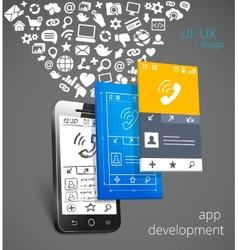 App development concept vector