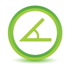 Green Sign of the angle icon vector image