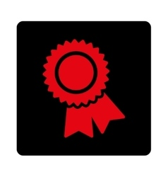 Certification icon from award buttons overcolor vector