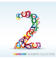 Rainbow number two vector