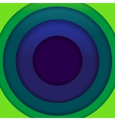 Abstract blue and green paper circles background vector