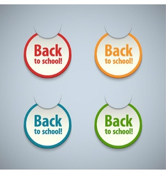 Back to school stickers set vector image vector image