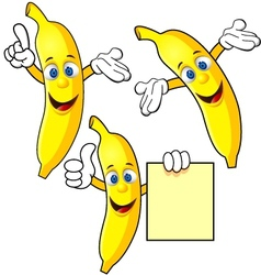 banana cartoon character vector image vector image