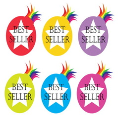 Best seller icons vector