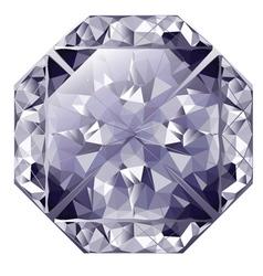 Blue shiny diamond vector