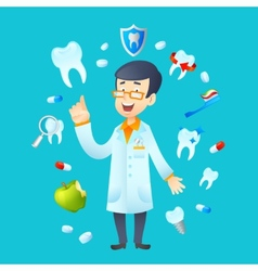 Dentistry concept vector