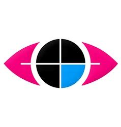 Eye target vision symbol logo vector