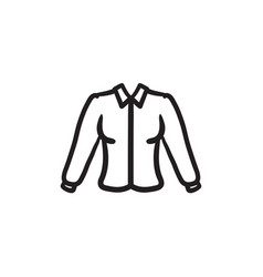 Female blouse sketch icon vector